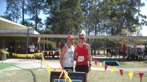 Steve and I after the race
