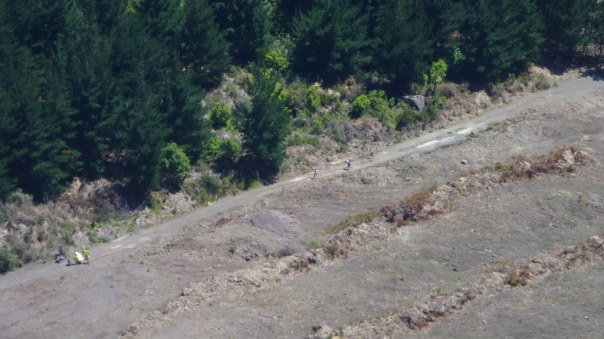 Me followed by Chris and Sjors as we head through the clearing. Image courtesy of the Tarawera Ultramarathon
