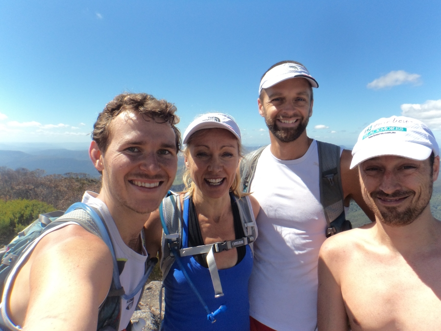 Group photo at summit of Mt Barney